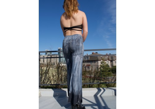 Pantalon évasé gris