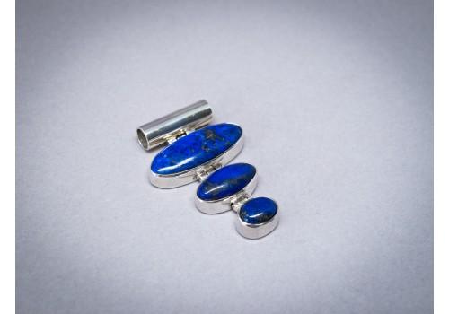 Pendentif lapis-lazuli et argent pour femme