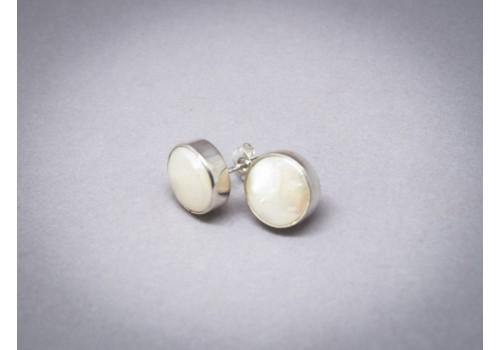 Boucles d'oreilles perle biwa et argent pour femme