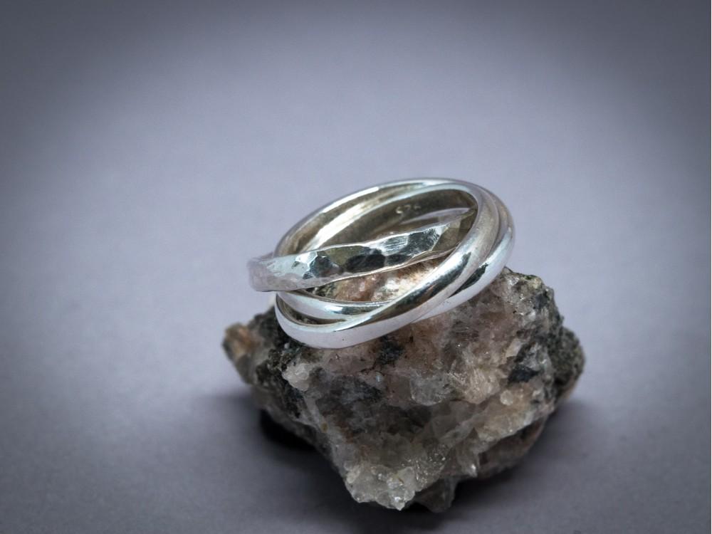 bague trois anneaux entrelac s argent 925 martel cadeau. Black Bedroom Furniture Sets. Home Design Ideas